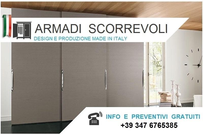 Armadio Ante Scorrevoli Altezza 190 Cm.Armadi Moderni Scorrevoli Alti Da Cm 220 A 230 Bologna