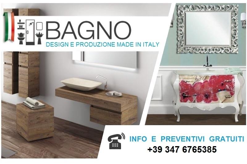 Arredo mobili bagno classici con 2 lavabi Bologna