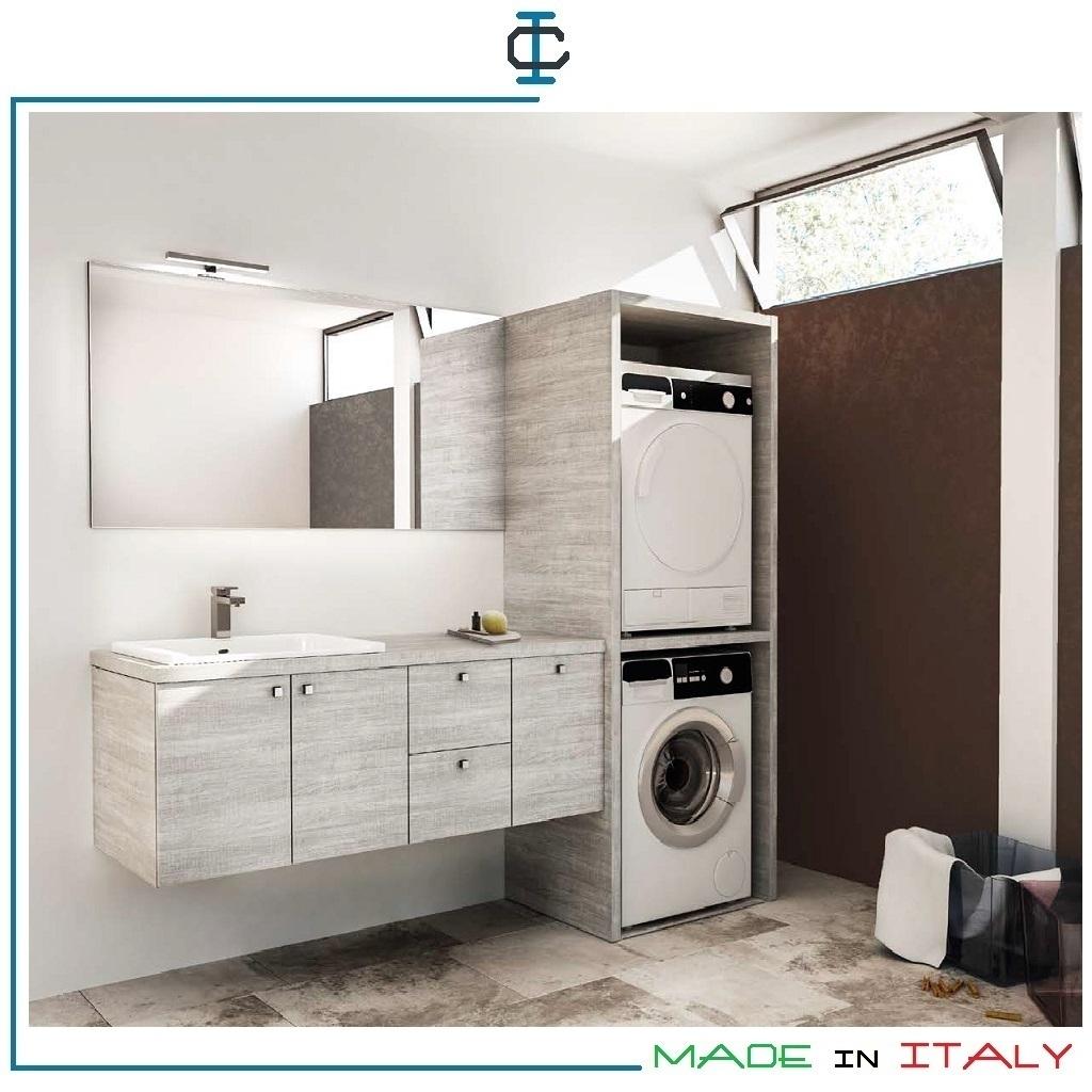 Colonna lavatrice ed asciugatrice art moba578 - Mobile per lavatrice e asciugatrice ...