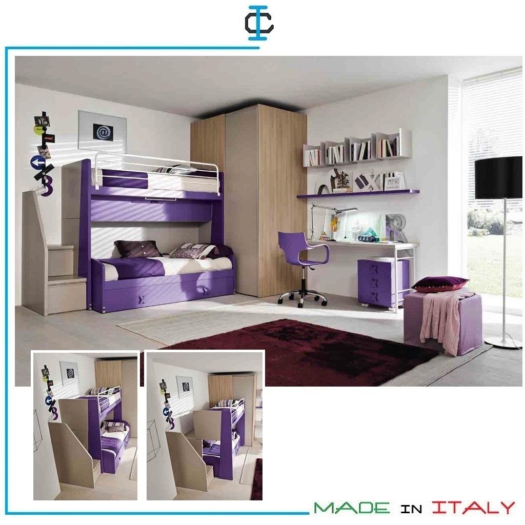 Cameretta Letto Castello Scorrevole art. SITG24