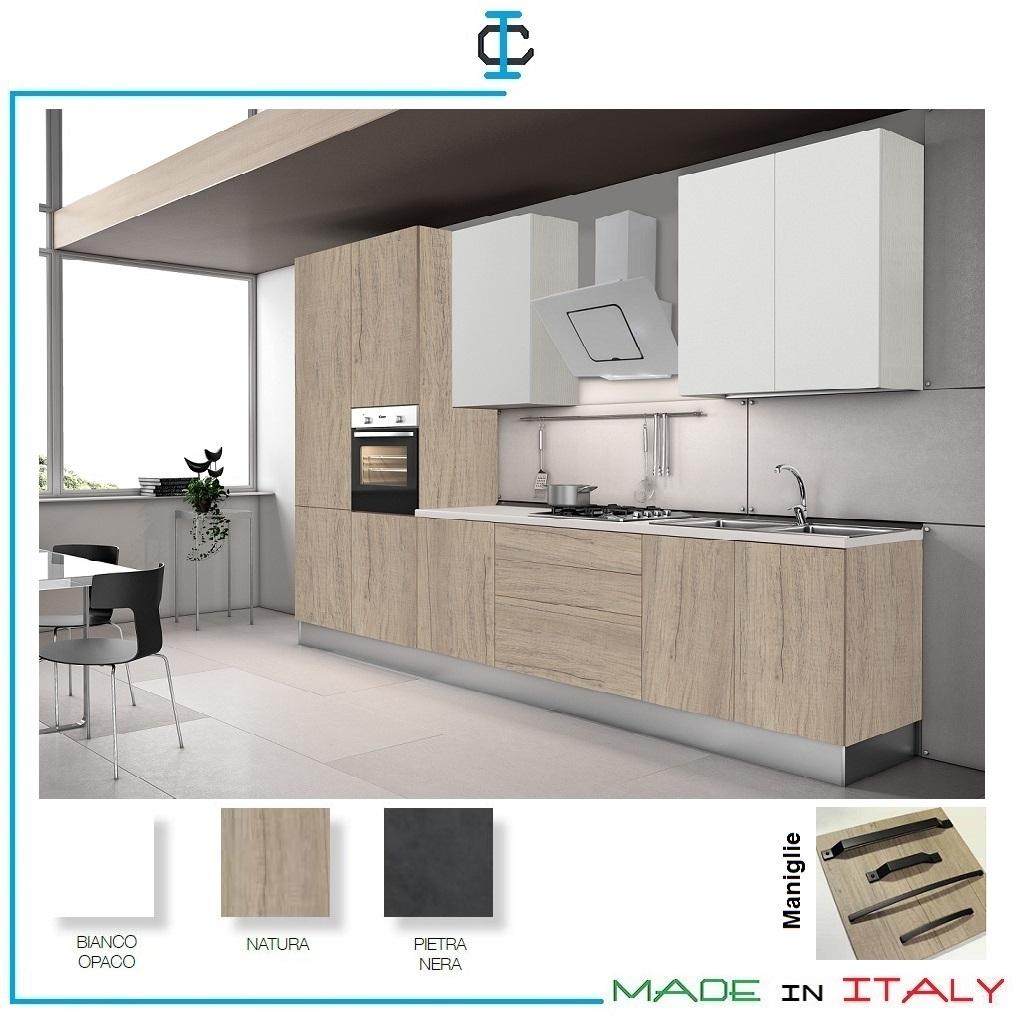 Cucina Lineare economica come Ikea fin. Legno art. VAPAP02
