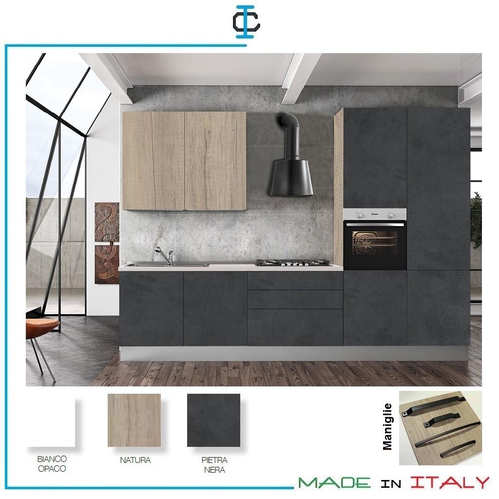 Mobili Bassi Cucina Ikea cucina fin. pietra nera prezzi bassi come ikea art. vapap03