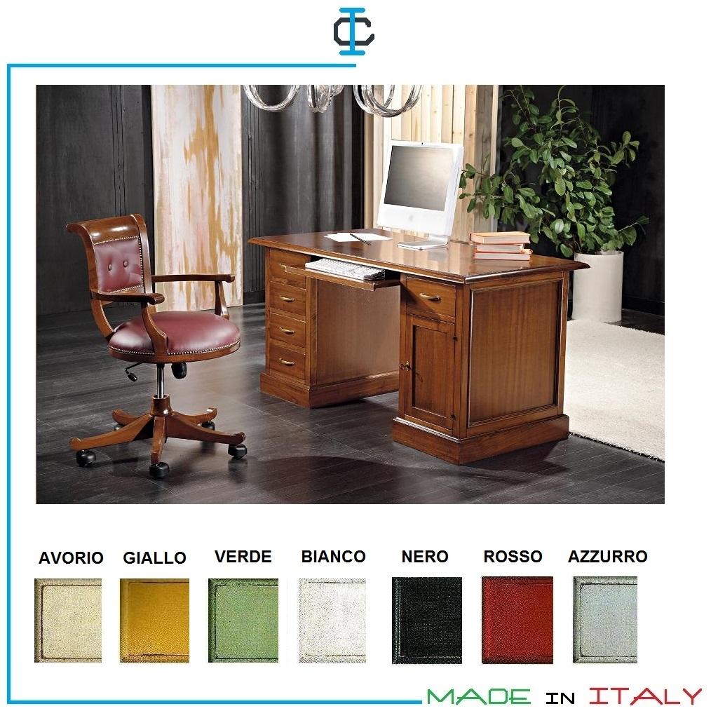 Scrivania Porta Pc Nero.Scrivania Classica Porta Pc Art Miscr415