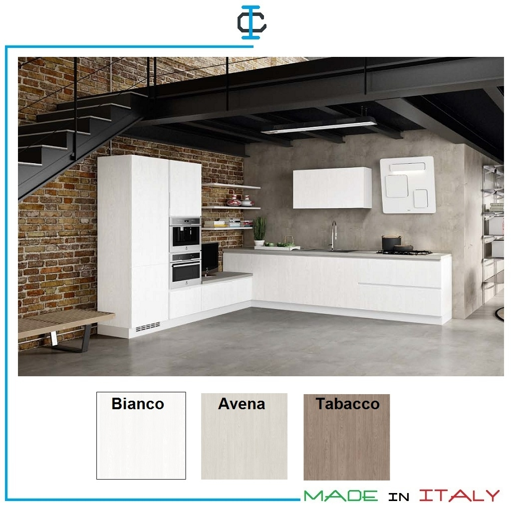 Angolo Tv Moderno cucina con angolo e porta tv art. esaz1