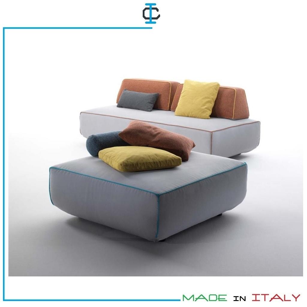 Divano 2 posti intermedio con isola e schienale mobile art for Divano con mobile incorporato