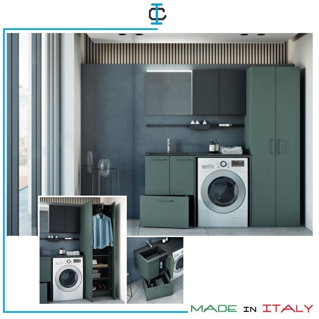 Appendiabiti Su Misura mobile lavanderia con appendiabiti estraibile art. mob696