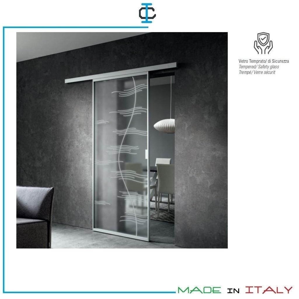 Porte Con Vetro Satinato porta in vetro satinato decorato art. lpnak90p. porte