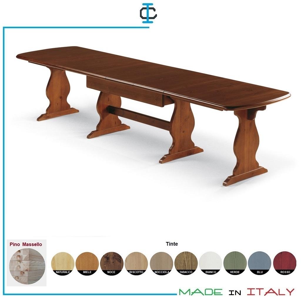 Tavoli Bologna Fratino Allungabile Art Defr190 Tavoli In Legno Massiccio Naturale Con Tinte A Scelta