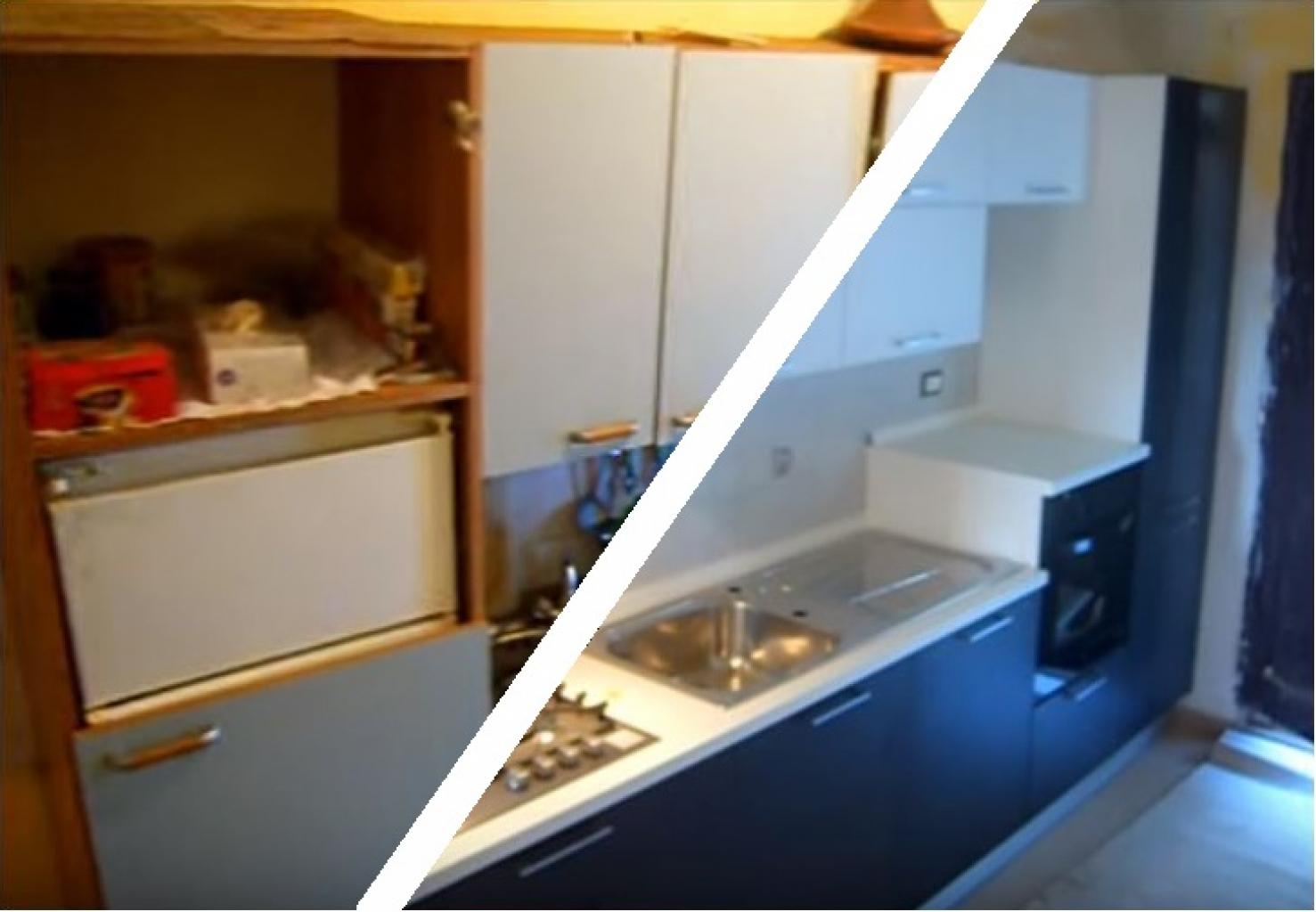 Cucina in Rovere Grigio e Bianco