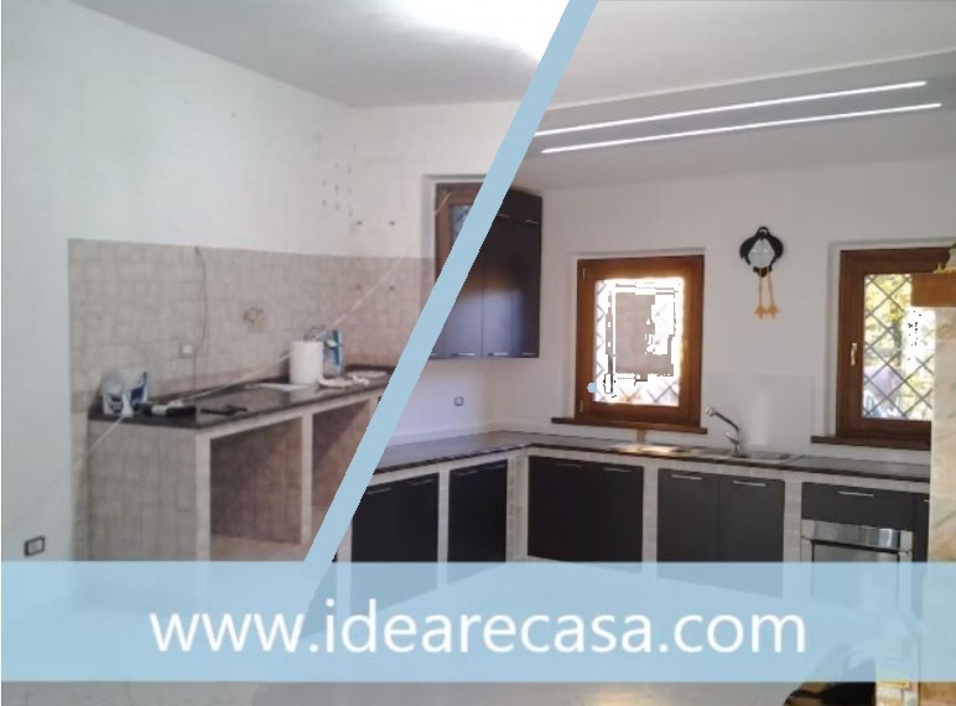 Restyling di cucina in muratura e di soggiorno