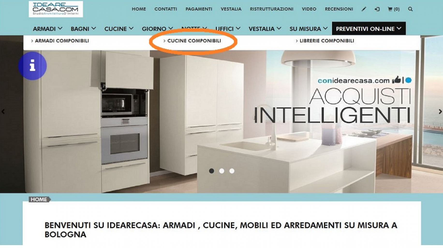 Preventivi on-line di Cucine