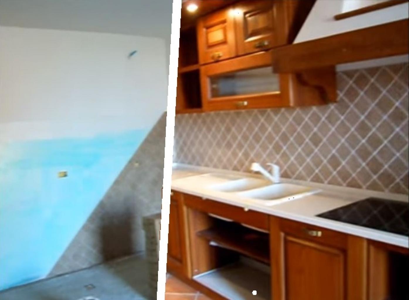 Piani Per Cucine In Muratura cucina in rustica con top quarzo ed induzione