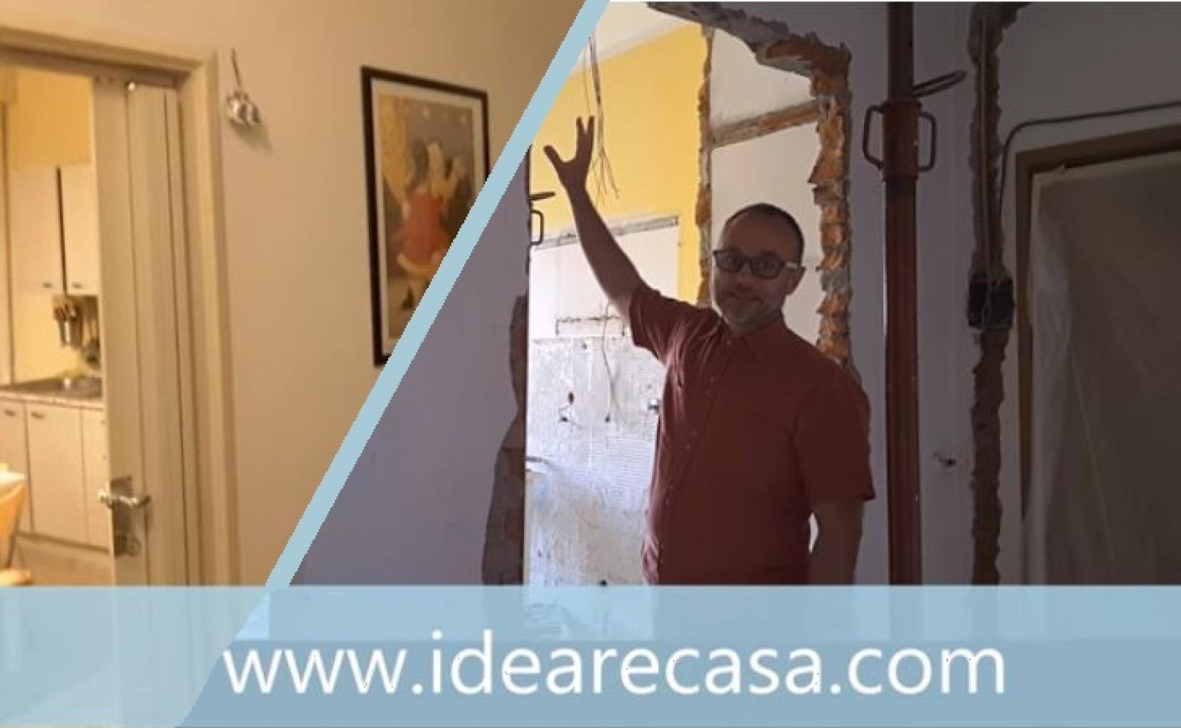 Porta Scorrevole Su Muro Portante apertura ingresso su parete portante