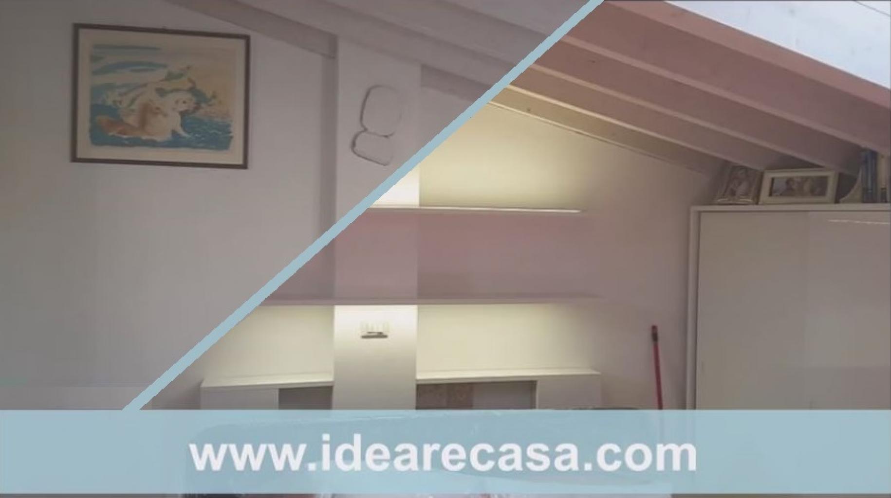 Mensole illuminate a Led in Camera da Letto