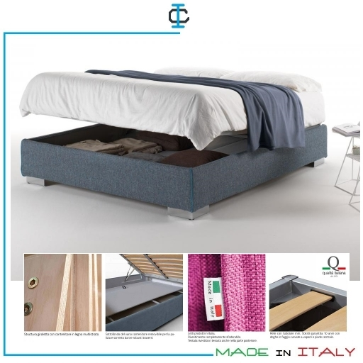 Letto Sommier Matrimoniale Contenitore N