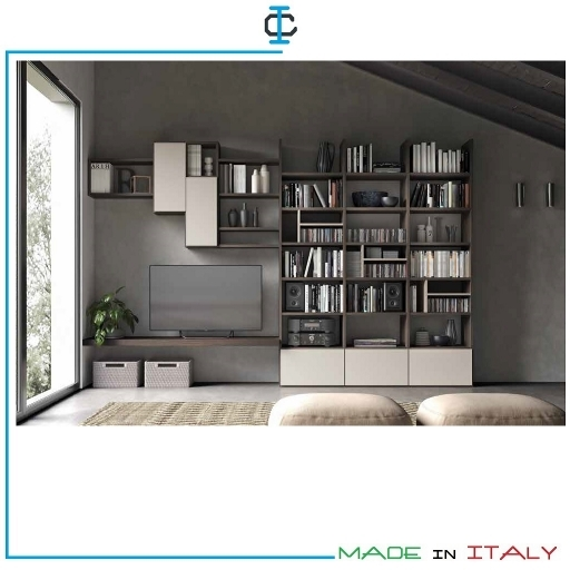 Pareti Living Librerie Porta TV